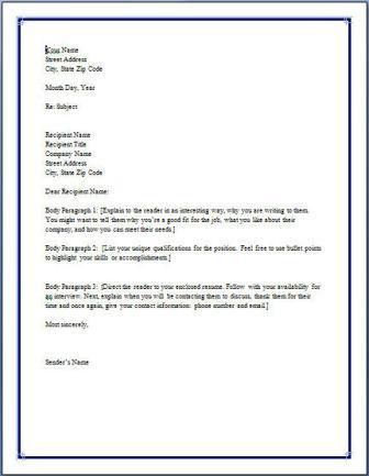 creating a cover letter template. here is a cover letter sample to ...
