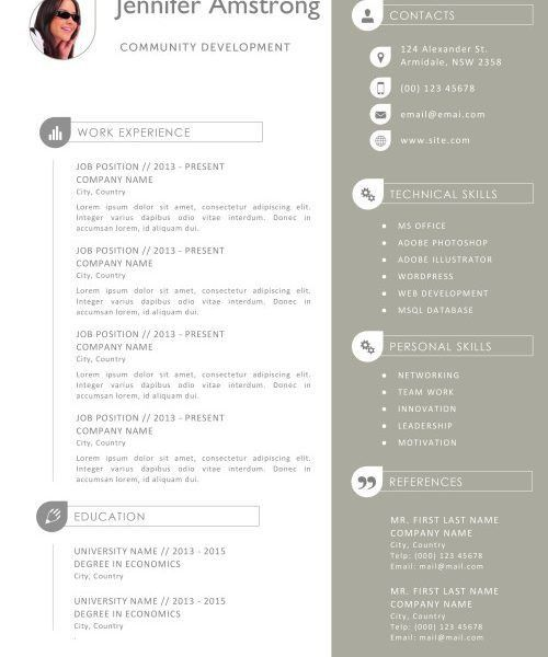Pages Templates Resume. Classical, Professional Resume Template ...