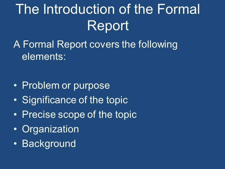 Reports & Proposals. Reports can either be Informational or ...