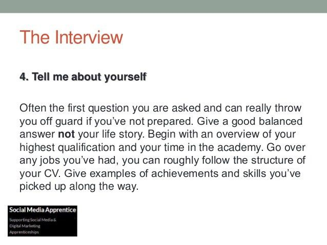 Interview skills for apprentices