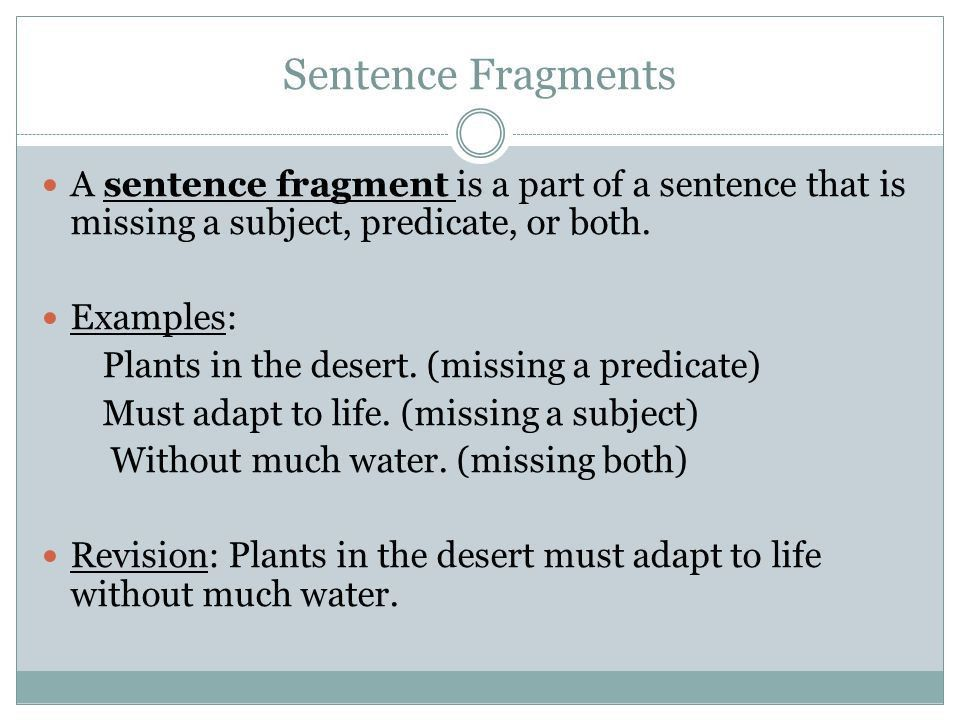 Fragments and Run-Ons 7TH GRADE LANGUAGE ARTS. - ppt video online ...