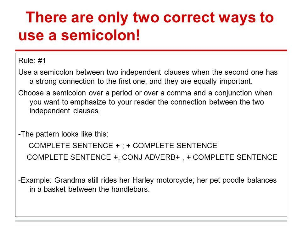 ACT Skills Minilesson: SEMICOLONS - ppt video online download