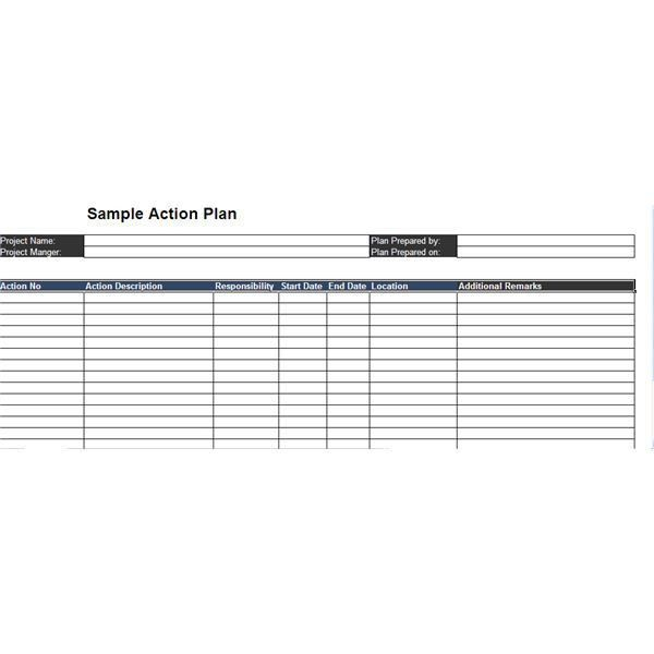 Top 3 Free Sample Action Plans