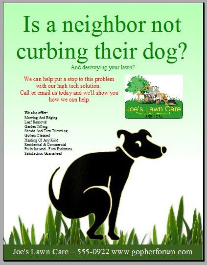 Free Lawn Care Flyer Templates - GopherHaul Landscaping & Lawn ...