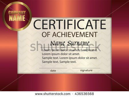 Vector Certificate Appreciation Template Award Winner Stock Vector ...