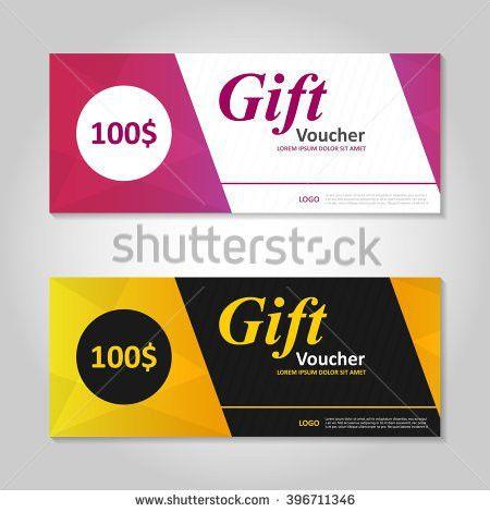 Gift Voucher Template Coupon Design Vector Stock Vector 314578985 ...