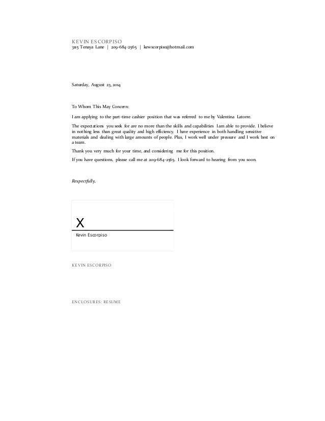 Amazing Enclosure Cover Letter 5 - CV Resume Ideas