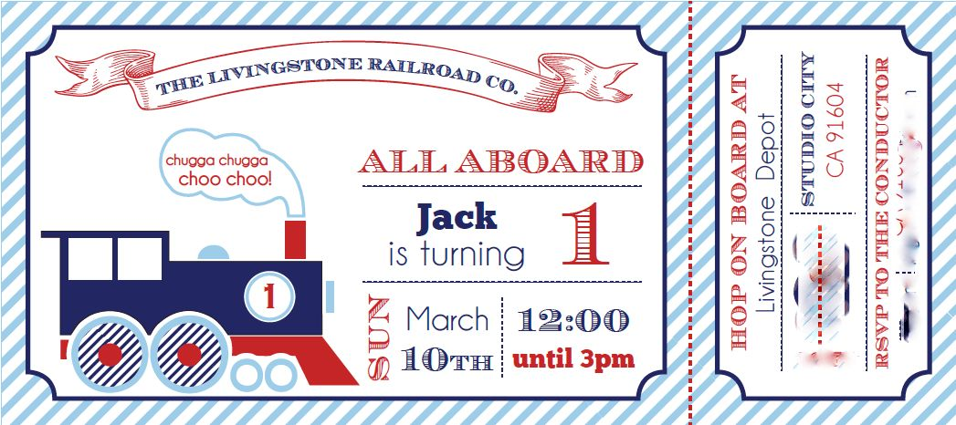 Train Birthday Invitations - Blueklip.Com