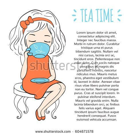 Tea Time Template Procurement Design Booklet Stock Vector ...