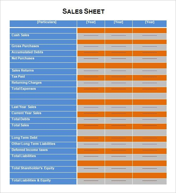 Sales Sheet Template - 8+ Samples, Examples , Format