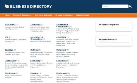 Online demo of php business directory, php & mysql software for ...