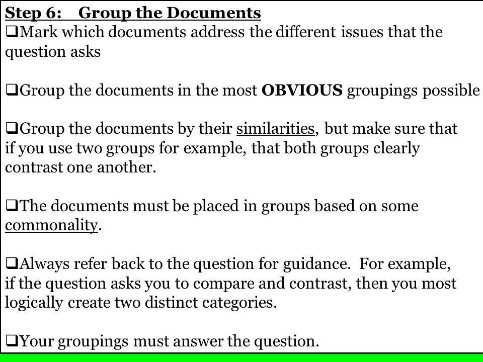 Document Number (s)Comments Thesis Support Group 1 Group 2 Group 3 ...