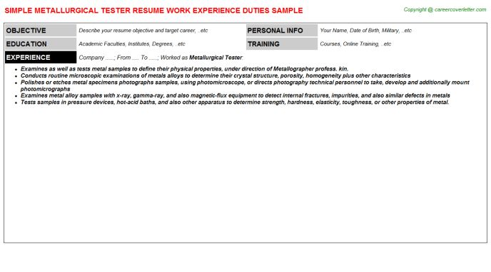 Servicenow Qa Tester Resumes Samples