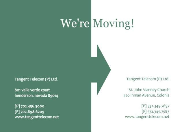 Business Moving Announcement Template Design Sample : Helloalive