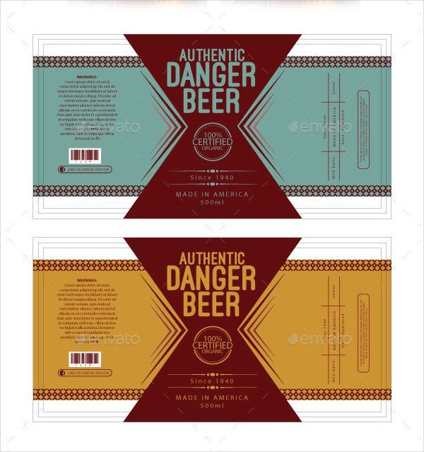 Beer Label Template - 195+ Free & Premium Download