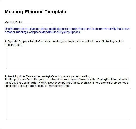 Agenda Planner - 7+ Free Samples , Examples , Format