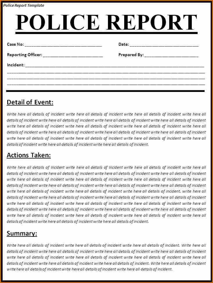 8 police report templates free sample example format download – Police Report Format
