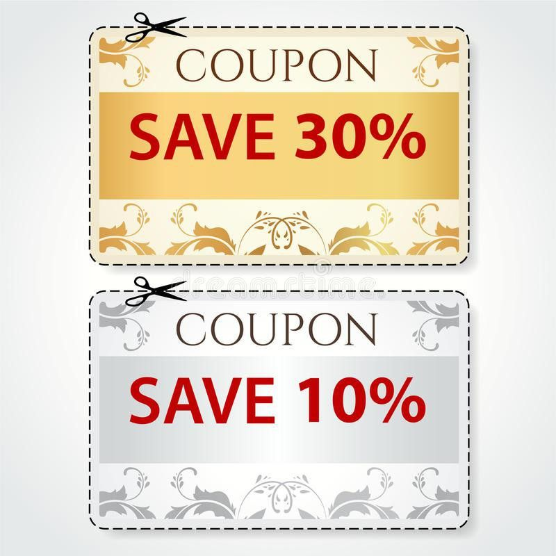 Sale Coupon, Tag. Cut Off Template, Gold Pattern Stock Image ...