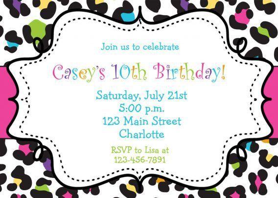 Birthday Party Invitation Template Free   cimvitation