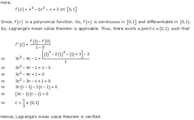 RD Sharma Class 12 Solutions Chapter 15 Mean Value Theorems ...