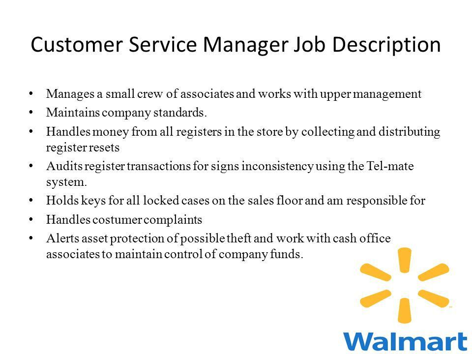 Customer Service Manager Job Description Job Resume Sample Service .