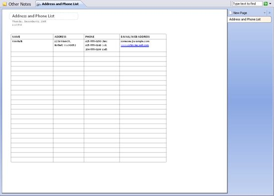 Download Ms Office Address and phone list Conference Meeting ...