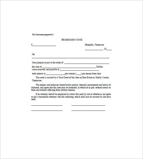 10+ Promissory Note Form – Free Sample, Example, Format Download ...