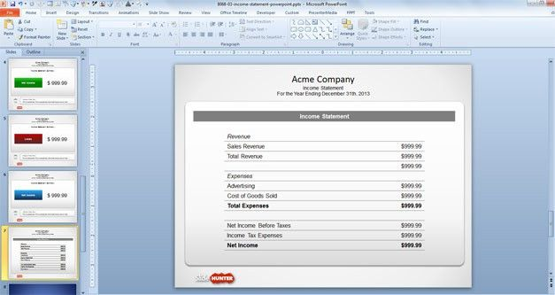 Free Free Income Statement PowerPoint Template - Free PowerPoint ...