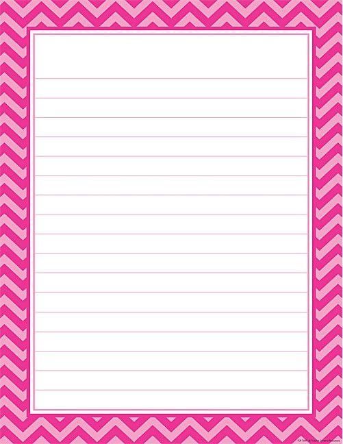 Hot Pink Chevron Lined Chart #teachercreatedresources ...