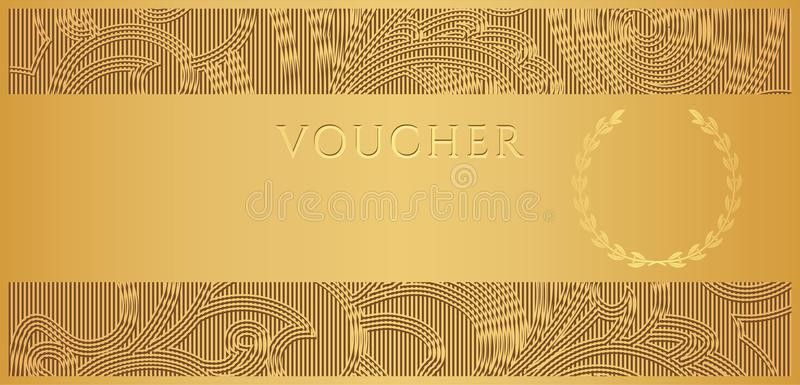 Gold Voucher (Gift Certificate, Coupon Ticket) Stock Photography ...