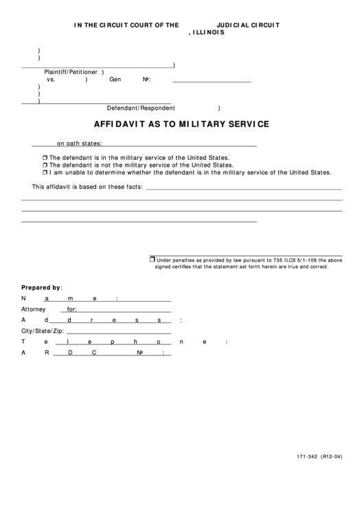 Top 7 Military Affidavit Form Templates free to download in PDF ...