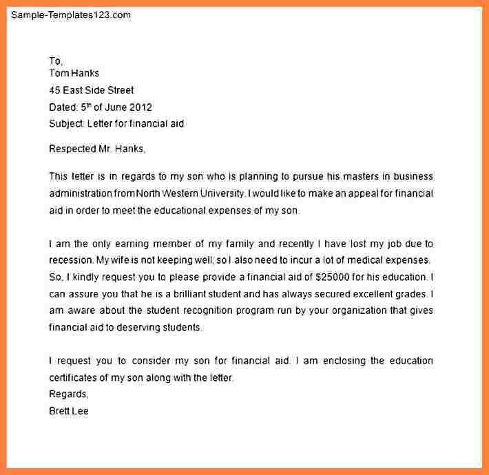 7+ financial assistance application letter | Bussines Proposal 2017