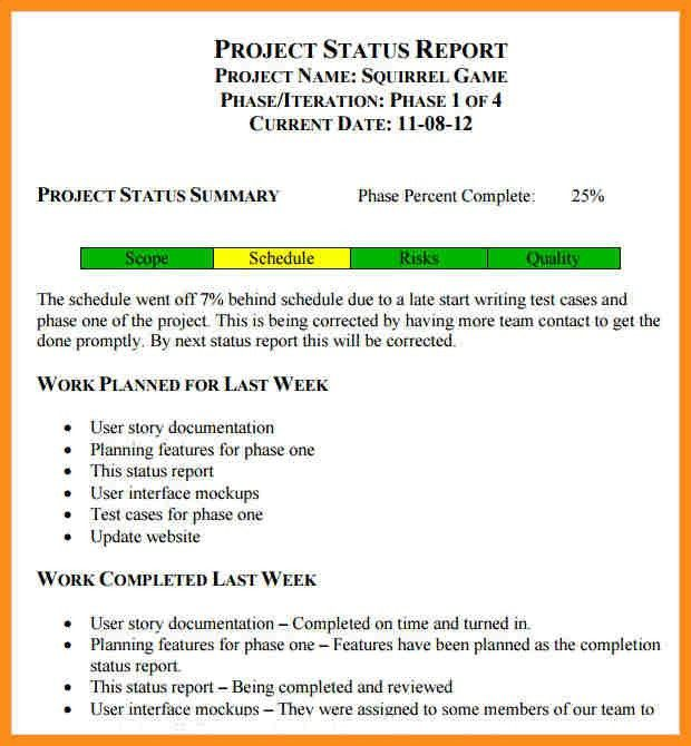 7+ monthly status report template | parts of resume
