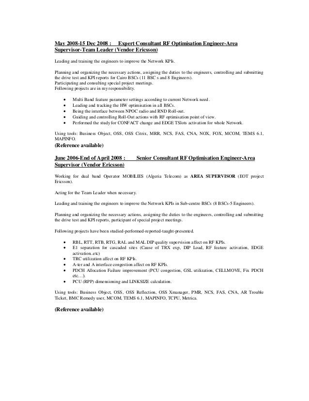 Drive Test Engineer Sample Resume | haadyaooverbayresort.com