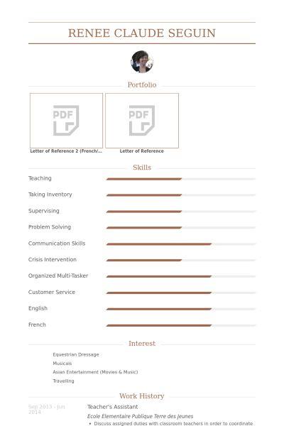 L'assistant Du Professeur Exemple de CV - Base de données des CV ...
