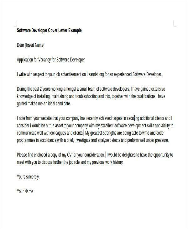 Lamp Developer Cover Letter] The Most Awesome In Addition To ...