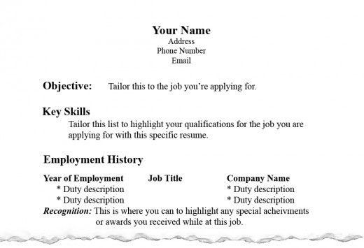 resume format page 2 resumes formats examples of resumes proper ...