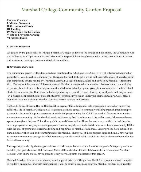 Community Proposal Templates - 10 Free PDF Format Download | Free ...