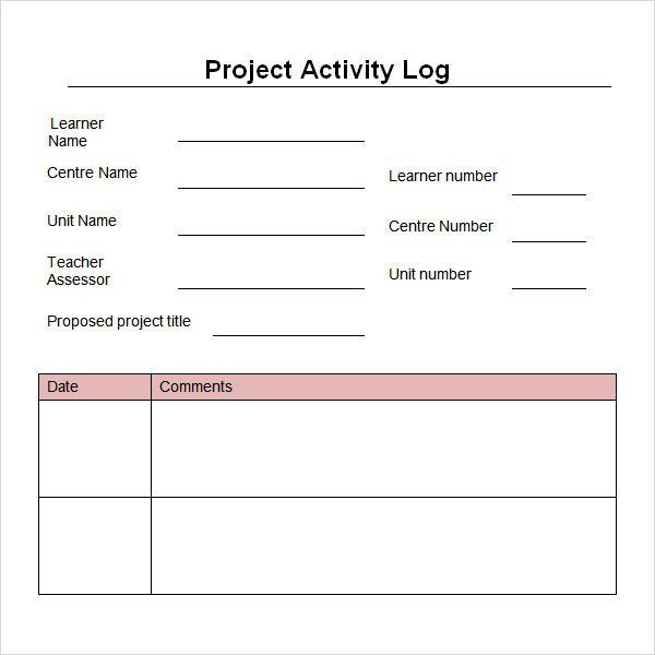 Work Log Template   5+ Free PDF , Doc Download