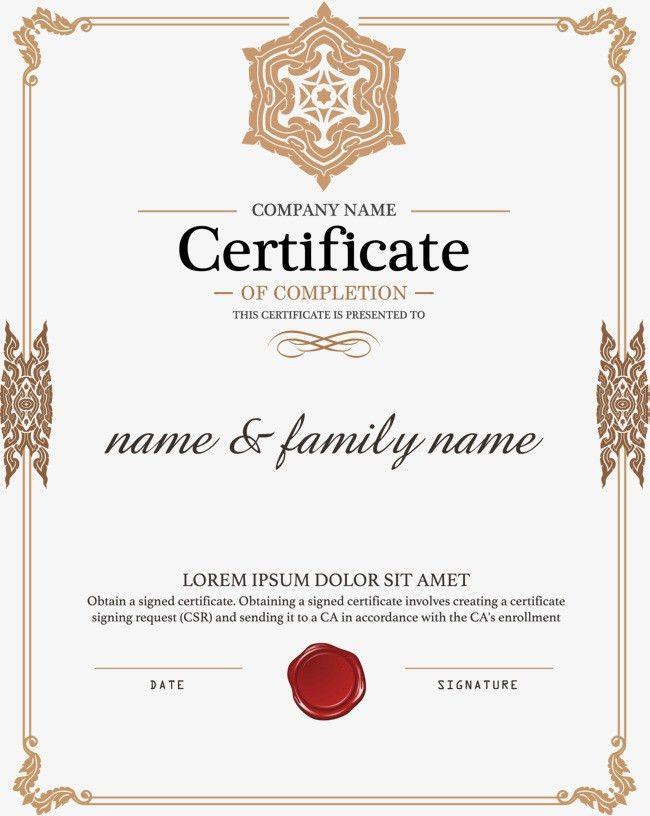 European border authorization certificate, Diploma, Training ...