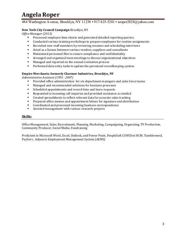 Roper's Resume and Cover Letter