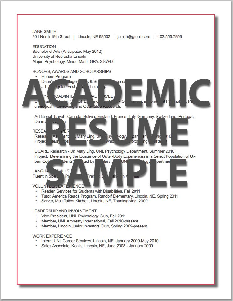 Resumes | Career Services | University of Nebraska–Lincoln