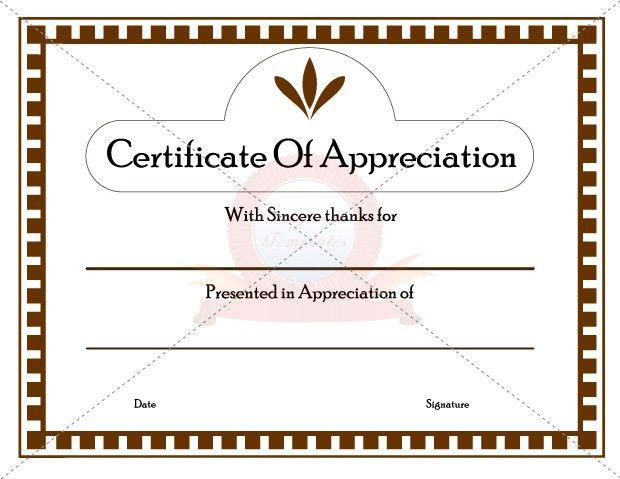 Appreication Certificate Templates | Certificate Template ...
