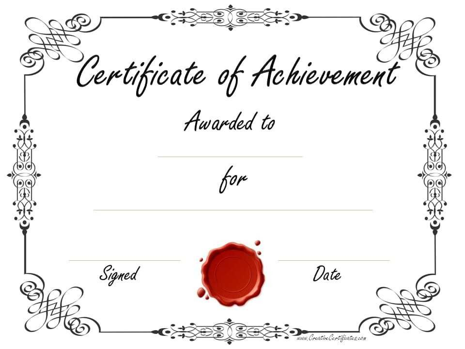 achievement certificates template - thebridgesummit.co