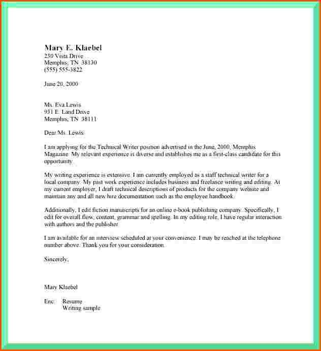 Cover Letter Format Spacing - My Document Blog