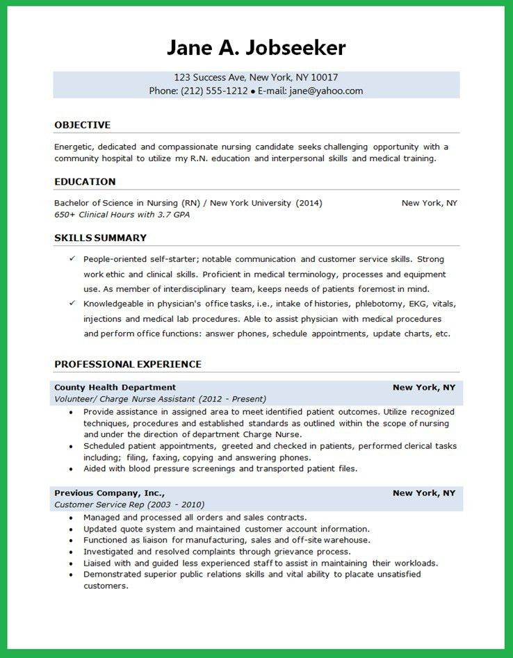 Enjoyable Design Student Nurse Resume 16 Example Free Sample ...
