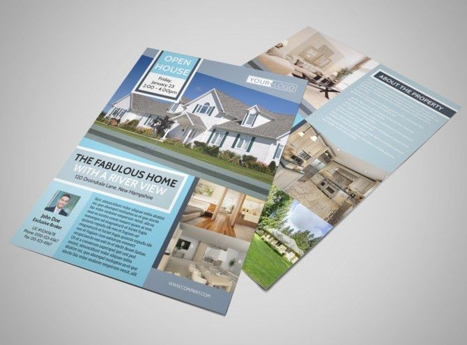 River View Real Estate Open House Flyer Template | MyCreativeShop