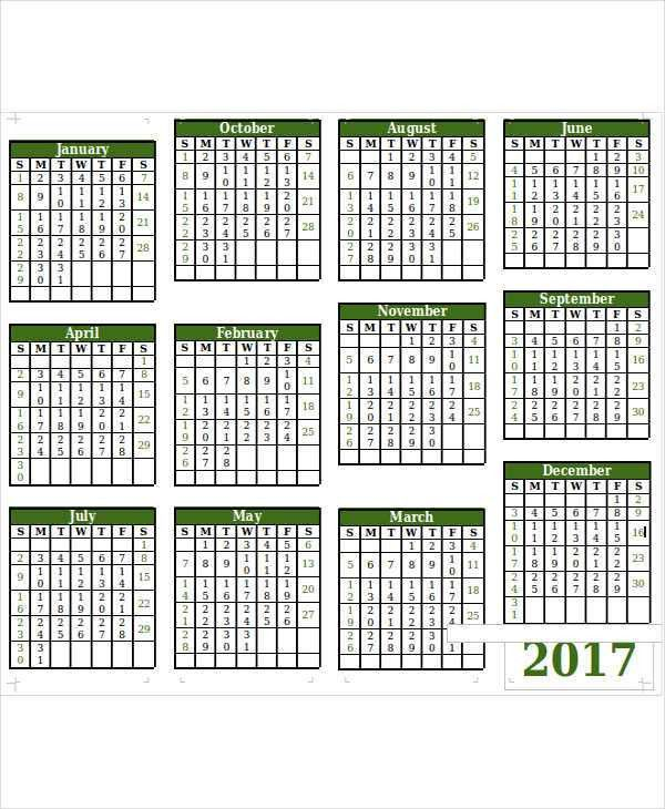 10+ Planning Calendar Template - 10+ Free Word, PDF Format ...