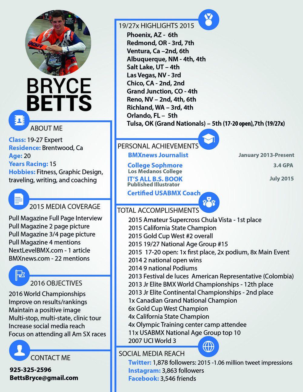 DIGITAL RESUME — Bryce Betts Designs - BMX - GRAPHIC DESIGN