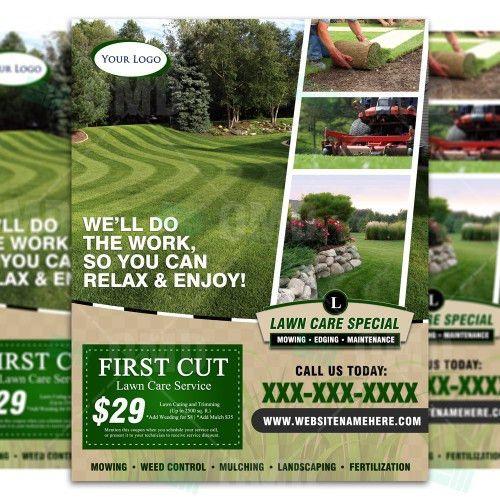 Lawn Care Flyer Design #6 – The Lawn Market